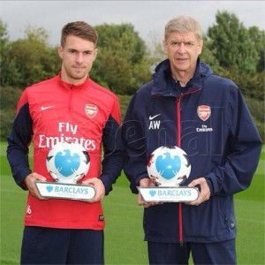 Wenger, Ramsey and Arsenal have had a great start to the season.