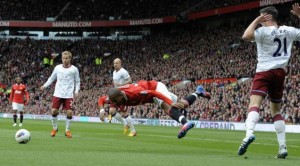 It is certainly not the first time Ashley Young has been accused of diving